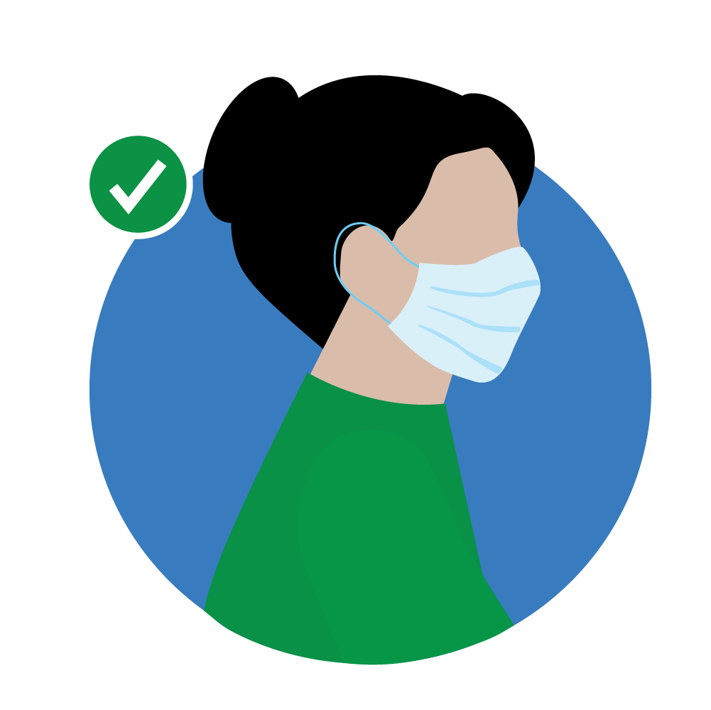 Wear Mask Covering Nose and Mouth