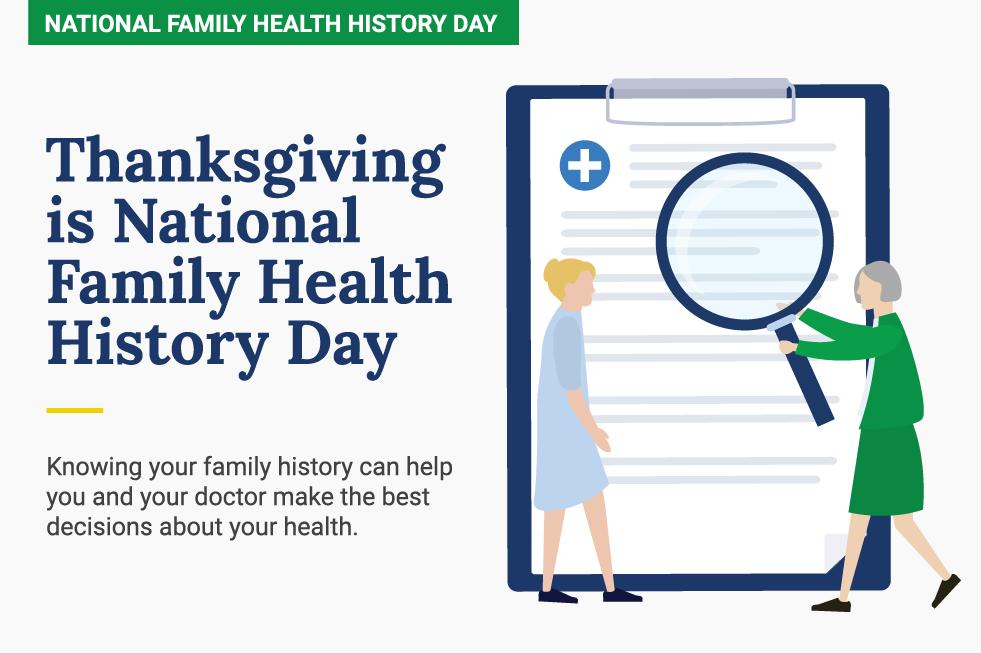National Family Health History Day blog header.