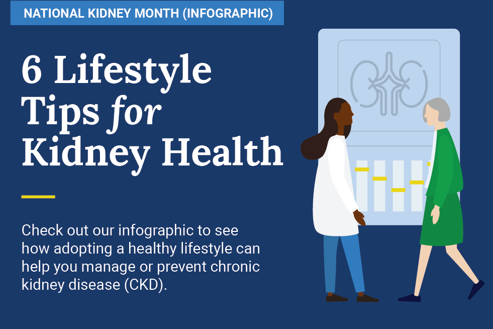 Six Lifestyle Tips for Kidney Health (Infographic)